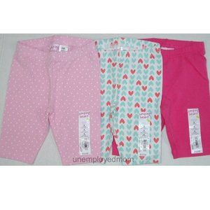 6M Pink Hearts Lot Baby Girls Capri Legging Pants